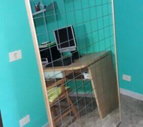 specchio quadrettato + carrello